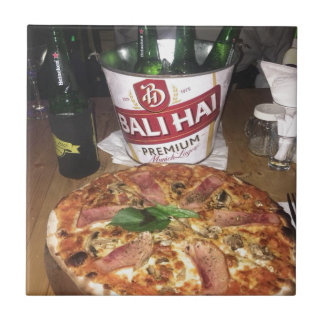 Bali beer and Pizza Tile