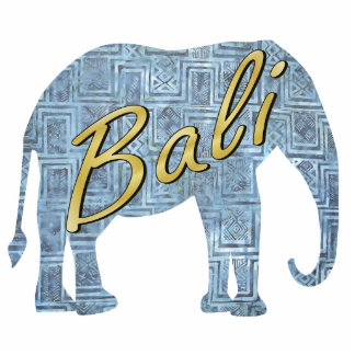 Bali Blue Batik Elephant Magnet Photo Sculpture Magnet