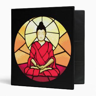 Bali buddha stain glass window 3 ring binder