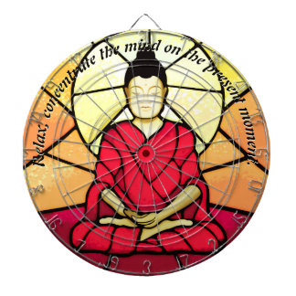 Bali buddha stain glass window dartboard