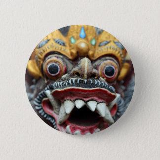 Bali Hindu mask 2 Inch Round Button