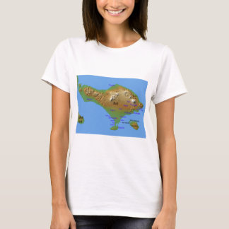 Bali Holliday Map T-Shirt