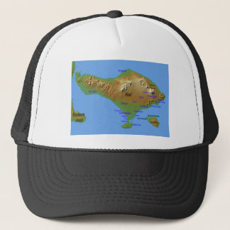 Bali Holliday Map Trucker Hat