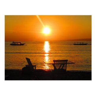 Bali Indonesia Sunset Postcard
