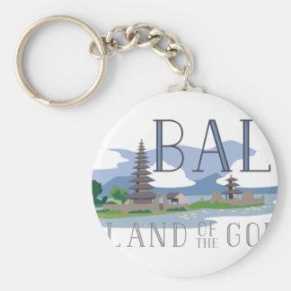 Bali Island Of Gods Basic Round Button Keychain