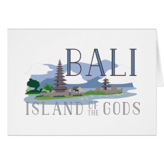 Bali Island Of Gods Card