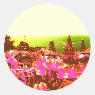 Bali Island Paradise Classic Round Sticker