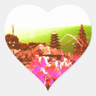 Bali Island Paradise Heart Sticker