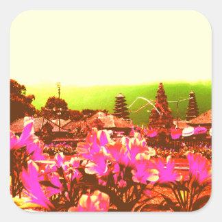 Bali Island Paradise Square Sticker