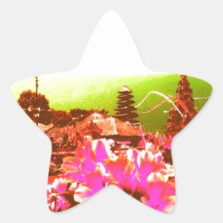 Bali Island Paradise Star Sticker
