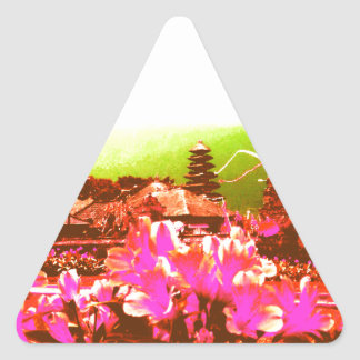 Bali Island Paradise Triangle Sticker