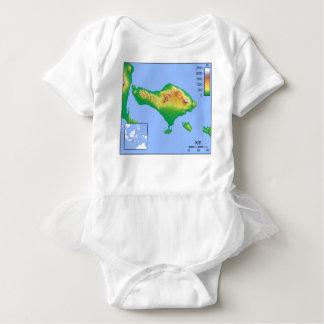 Bali Map Baby Bodysuit
