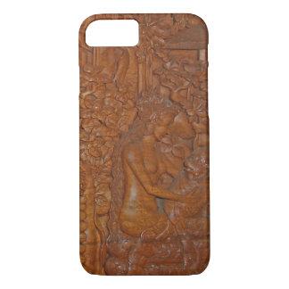 Bali Princess and Monkey Fairytale Wood Art iPhone 7 Case