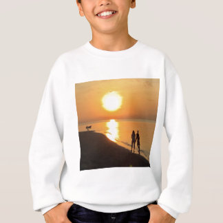 Bali sunrise on the beach sweatshirt