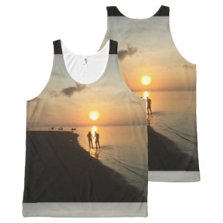 Bali Sunset and Beach All-Over-Print Tank Top