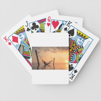 Bali Sunset Bicycle Playing Cards