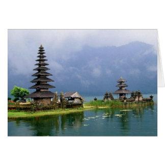 bali temple indonesia card