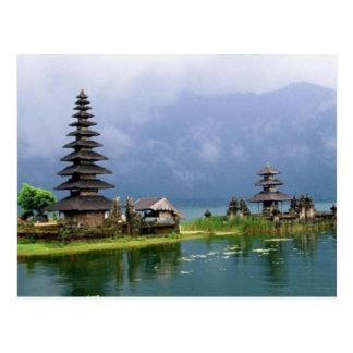 bali temple indonesia postcard