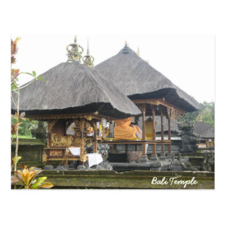 Bali Temple Postcard