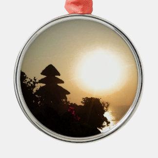 Bali temple Silver-Colored round ornament