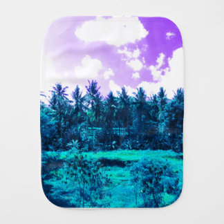 Bali Tropical Forest Burp Cloth