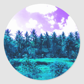Bali Tropical Forest Classic Round Sticker