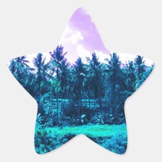 Bali Tropical Forest Star Sticker