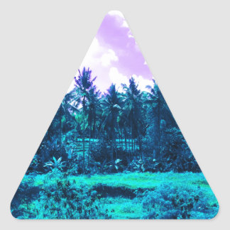 Bali Tropical Forest Triangle Sticker