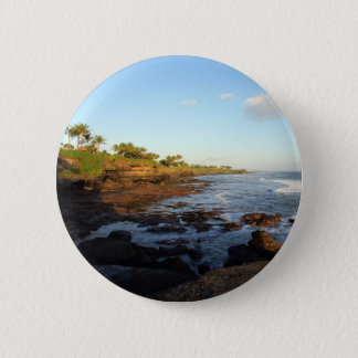 Bali tropical scenic coast at Tanah Lot 2 Inch Round Button