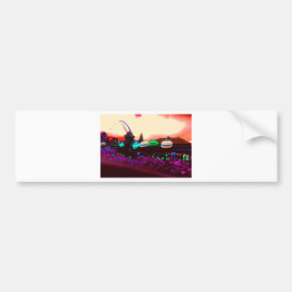 Bali Umbrella Colour Splash Bumper Sticker