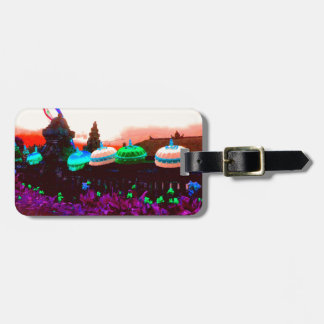 Bali Umbrella Colour Splash Luggage Tag