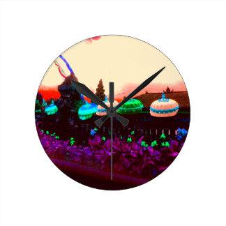 Bali Umbrella Colour Splash Round Clock