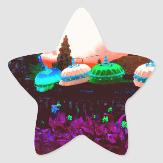 Bali Umbrella Colour Splash Star Sticker