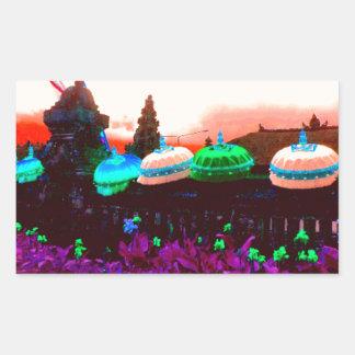 Bali Umbrella Colour Splash Sticker