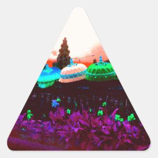 Bali Umbrella Colour Splash Triangle Sticker