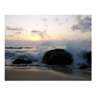 bali waves postcard