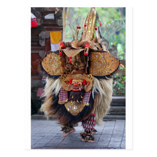 Balinese Barong and Kris dance performance Postcard