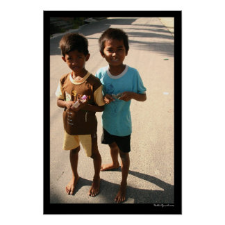 Balinese Boys Poster