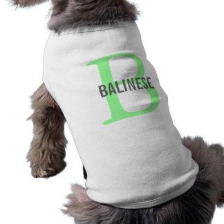 Balinese Breed Monogram Doggie Tee Shirt
