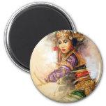 Balinese dancer fridge magnet