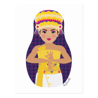Balinese Dancer Matryoshka Postcard