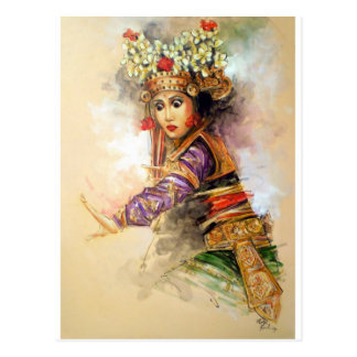 Balinese dancer postcard