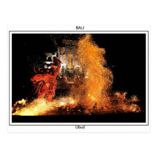 Balinese Fire Dancer Postcard