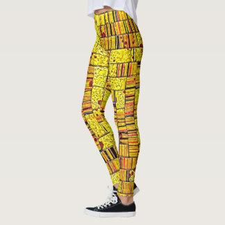 Balinese Glass Tile Art in Yellow Leggings