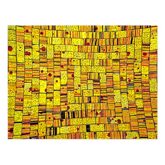 Balinese Glass Tile Art - Yellow Postcard