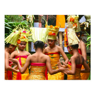 Balinese Temple Dedication Festival Postcard