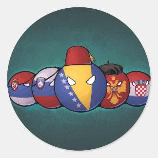 Balkan Countryballs Classic Round Sticker