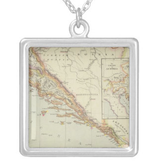 Balkan Peninsula, Croatia, Slovenia Silver Plated Necklace