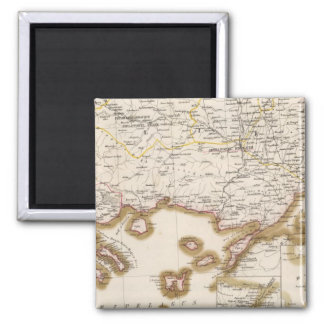 Balkan Peninsula, Turkey, Bulgaria Square Magnet