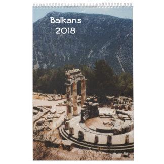 Balkans 2018 calendar